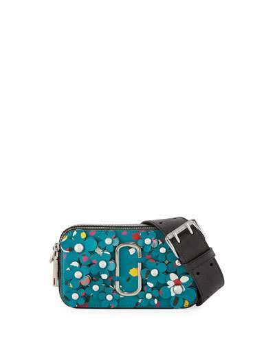 Marc Jacobs Marc Jacobs Snapshot 3D Painted Flowers Camera Bag, Turquoise