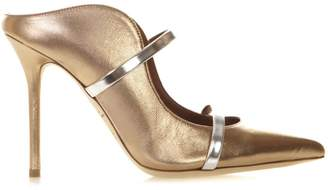 Malone Souliers Maureen Bronze Lamninated Leather Pumps