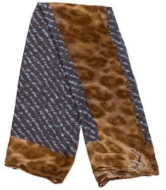 Yigal Azrouel Printed Woven Scarf