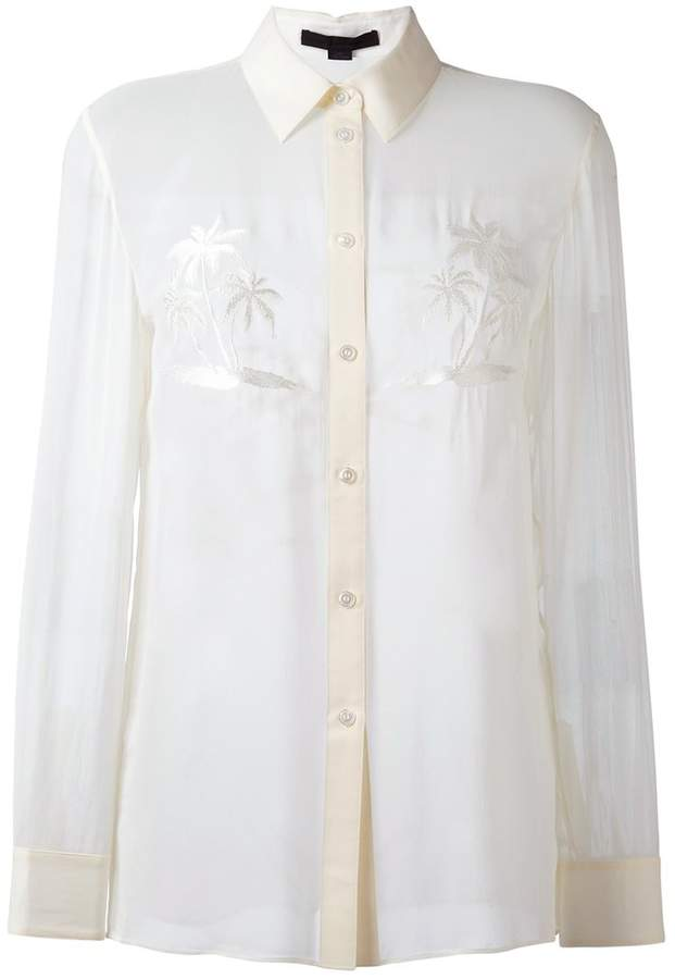 Alexander Wang palm embroidered shirt