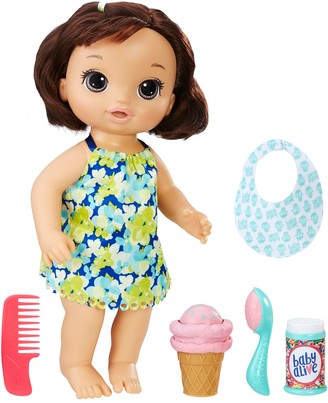 Hasbro Baby Alive Brunette Magical Scoops Baby Doll
