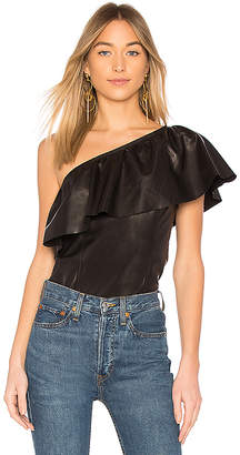 A.L.C. Davos Leather Top