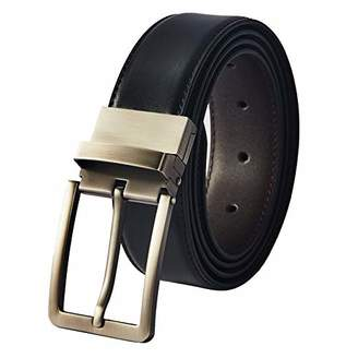 BRASS TACKS Leathercraft Men's Business Reversible Genuine Leather Dress Belt