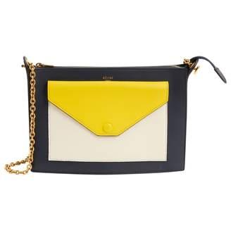 Celine Pocket Navy Leather Clutch Bag