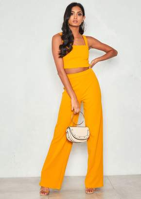 9690999551216 Missy Empire Missyempire Asher Mustard Crop Top   Trouser Co-Ord Set