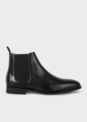 Paul Smith Men's Black Smooth Calf Leather 'Gerald' Chelsea Boots