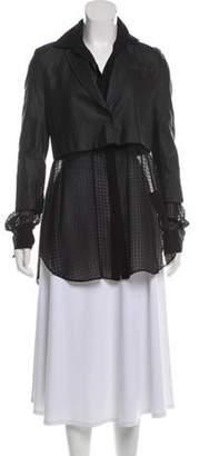 Alexander Wang Silk-Paneled Button-Up Top Black Silk-Paneled Button-Up Top