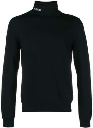 Valentino logo turtleneck sweater