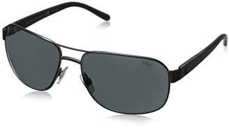 Polo Ralph Lauren Men's 0Ph3093 928887 Sunglasses, (Mat Grey)