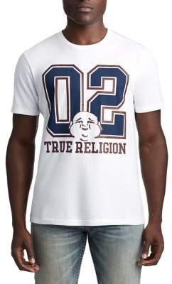 True Religion MENS 02 VARSITY BUDDHA GRAPHIC TEE