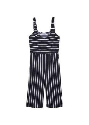 MANGO Cropped striped jumpsuit