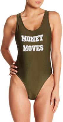 YMI SWIMWEAR Money Moves One-Piece Swimsuit (Regular & Plus Sizes)