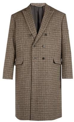 Balenciaga Checked Wool Coat - Mens - Grey