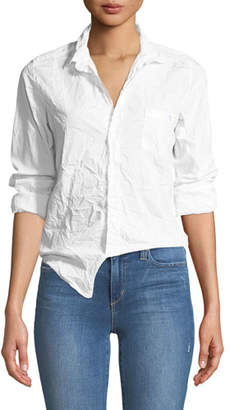 Frank And Eileen Barry Button-Front Crinkled Cotton Shirt