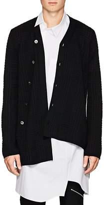 Comme des Garcons Men's Asymmetric Wool-Blend Cardigan