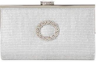 La Regale Silver Embellished Convertible Clutch