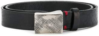Eleventy distressed buckle belt