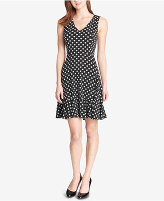 Tommy Hilfiger Polka-Dot Fit & Flare Dress
