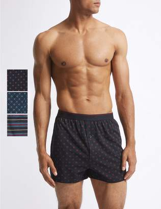 Marks and Spencer 3 Pack Pure Cotton Geometric Print Boxers