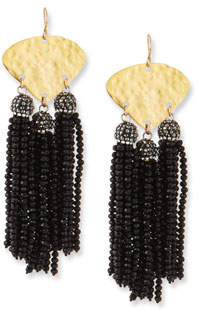 Devon Leigh Seed Bead Triple Drop Earrings
