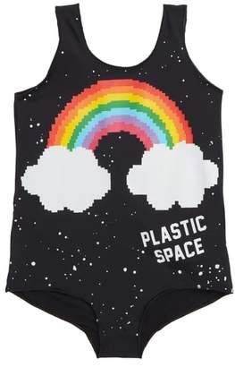 PLASTIC JUS Rainbow One-Piece Swimsuit