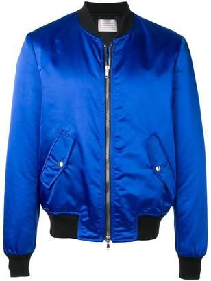 Route Des Garden satin bomber jacket