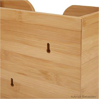 MINDREADER Mind Reader Bamboo Wall Mount Interfold Napkin Dispenser, Brown