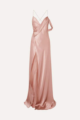 Michelle Mason - Draped Silk-charmeuse Gown - Blush
