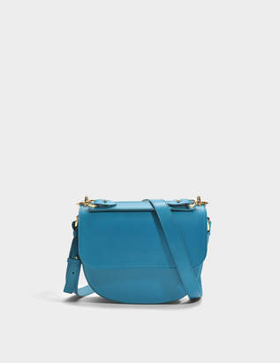 Sophie Hulme The Bow Bag in Blue Lagoon Cow Leather