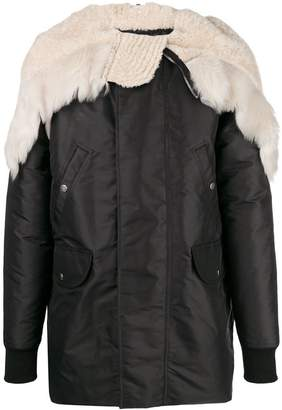 Rick Owens fur hooded jacket