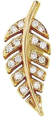 Jennifer Meyer Diamond Mini Leaf Single Stud Earring - Yellow Gold
