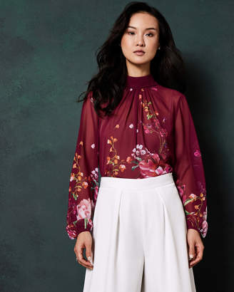 Ted Baker NAALAH Serenity high neck blouse