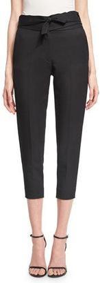Iro Sheava Cropped High-Rise Pants, Black $465 thestylecure.com