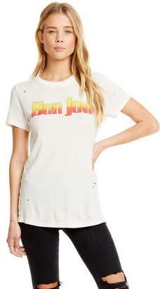 Chaser Bon Jovi Gauzy Cotton Jersey Short Sleeve Tee