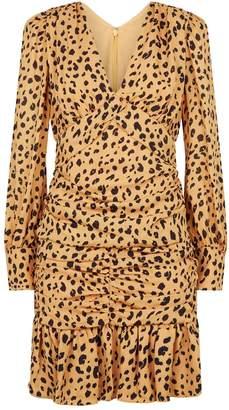 Nicholas Silk Cheetah Print Mini Dress