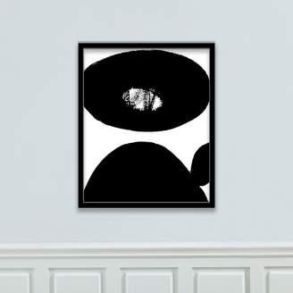 west elm The Arts Capsule Framed Canvas Print - Black + White Strokes 9