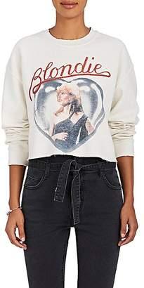 """Madeworn Women's """"Blondie"""" Cotton-Blend Cropped Sweatshirt - Dirty White"""