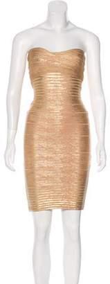 Terani Couture Strapless Bodycon Dress