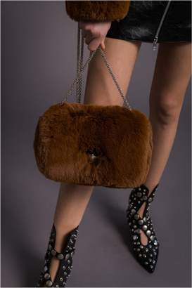Sonia Rykiel Medium Le Copain Bag In Fake Fur