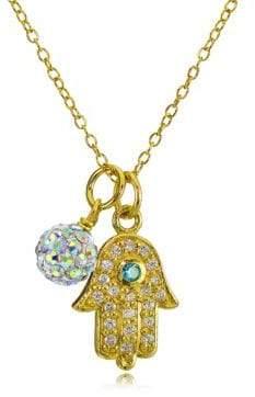 Lord & Taylor Hamsa Charm and Fireball Pendant Necklace