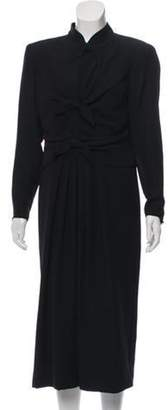 Ungaro Silk Bow-Accented Dress Black Silk Bow-Accented Dress