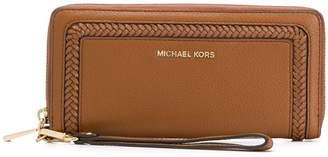 MICHAEL Michael Kors Lexington woven detail wallet