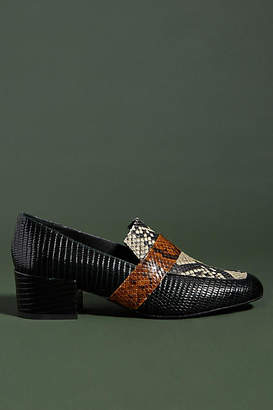 Freda Salvador Embossed Leather Loafers