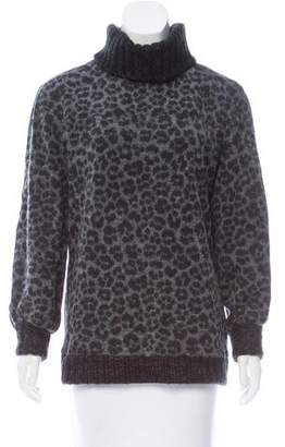 Givenchy Patterned Turtleneck Sweater