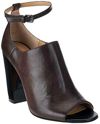 G.I.L.I. Got It Love It G.I.L.I. Leather Peep Toe Ankle Strap Booties -Preena