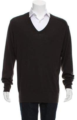 John Varvatos Wool V-Neck Sweater