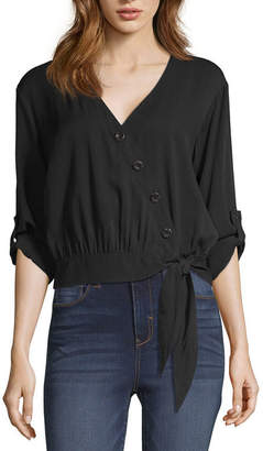 A.N.A Side Tie Button Front Top - Tall