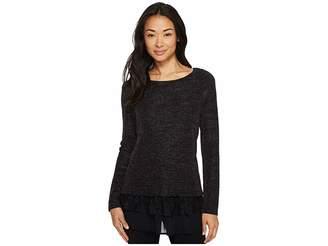 Karen Kane Lace Hem Sparkle Top Women's Clothing