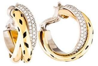Cartier Diamond Trinity Lacquer Hoop Earrings yellow Diamond Trinity Lacquer Hoop Earrings