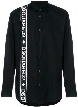 DSQUARED2 logo stripe shirt
